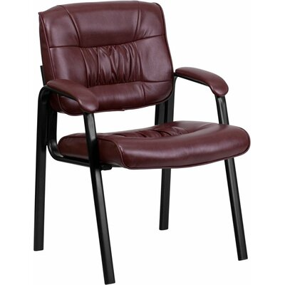 Kruger Leather Executive Guest Chair Seat Color: Burgundy