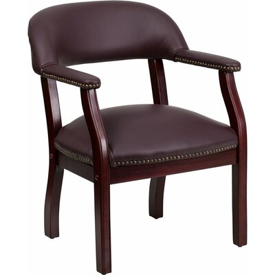 Terranova Leather Guest Chair Seat Color: Burgundy
