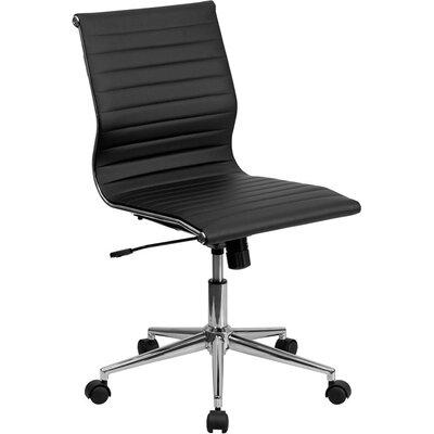 Wherry Mid-Back Armless Ergonomic Office Chair Upholstery: Black 8F37348DCD254161A7926DAB44EA25A7