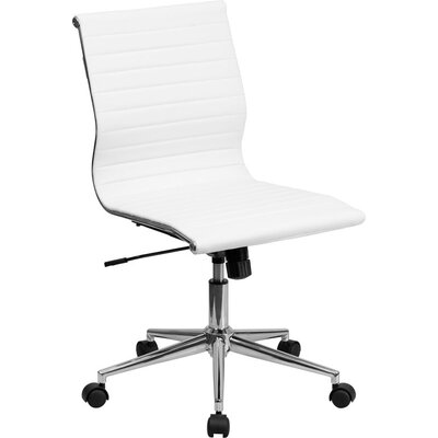 Wherry Mid-Back Armless Ergonomic Office Chair Upholstery: White 738180903D56413CB57503DE98477364