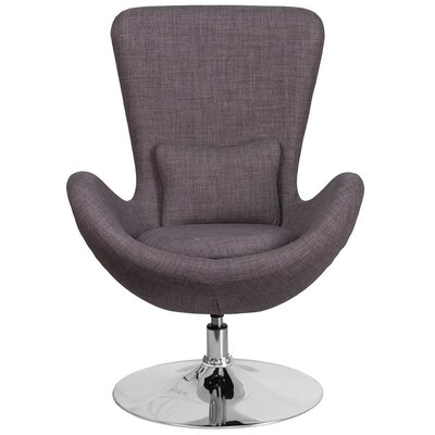 Whicker Leather Lounge Chair Seat Color: Dark Gray
