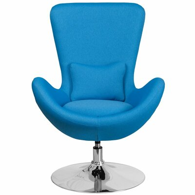 Whicker Leather Lounge Chair Seat Color: Aqua