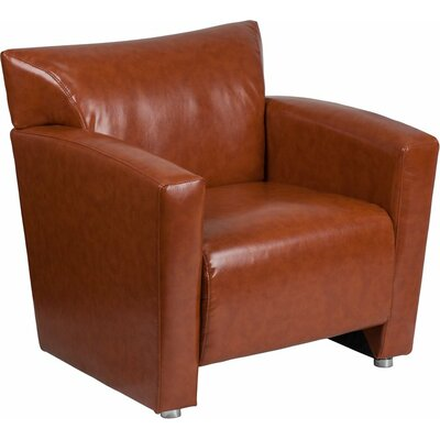 Whicker Leather Guest Chair Seat Color: Cognac