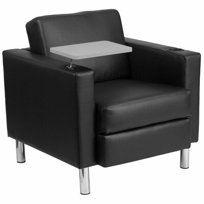 Whicker Leather Guest Chair