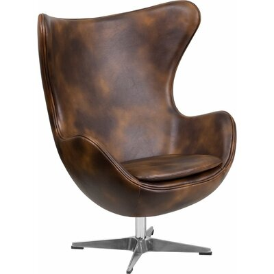 Wheatley Leather Guest Chair Seat Color: Bomber