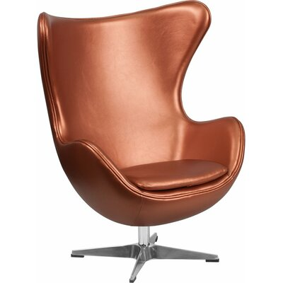 Wheatley Leather Guest Chair Seat Color: Copper