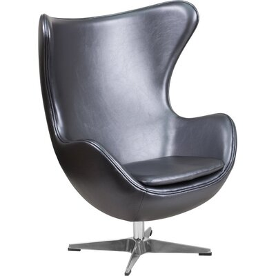 Wheatley Leather Guest Chair Seat Color: Gray