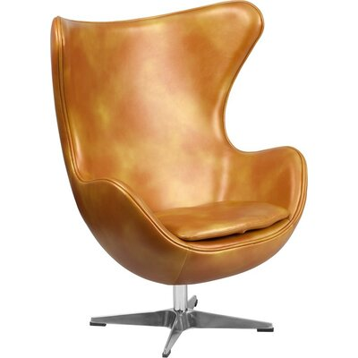 Wheatley Leather Guest Chair Seat Color: Gold