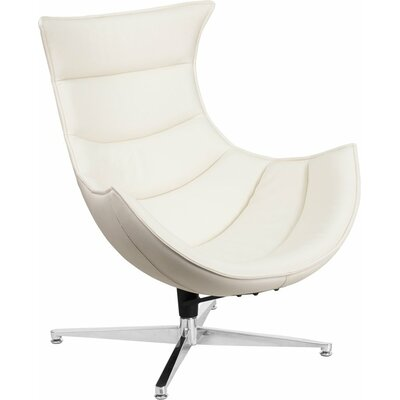 Wheatley Leather Lounge Chair Seat Color: White
