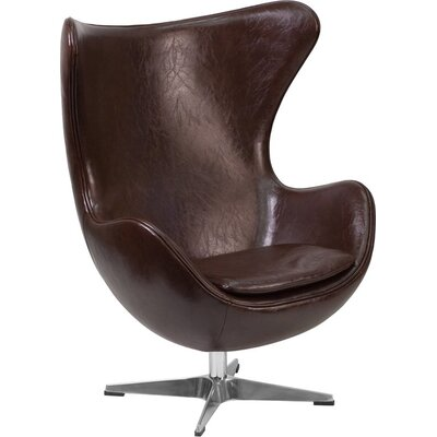 Wheatley Leather Guest Chair Seat Color: Brown