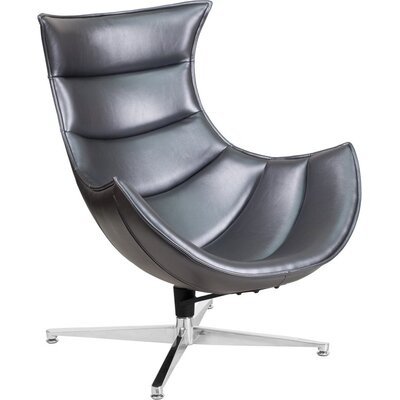 Wheatley Leather Lounge Chair Seat Color: Gray