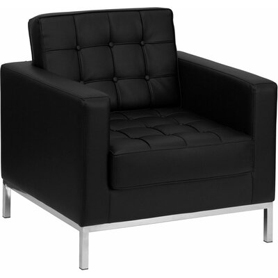 Wheatley Leather Guest Chair Seat Color: Black