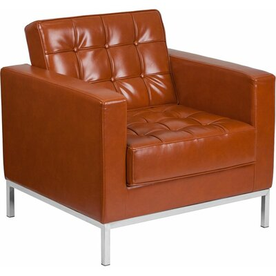 Wheatley Leather Guest Chair Seat Color: Cognac