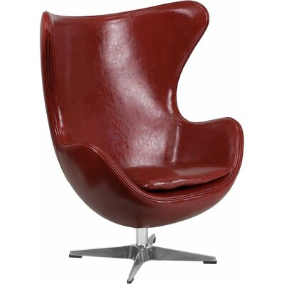 Wheatley Leather Guest Chair Seat Color: Cordovan