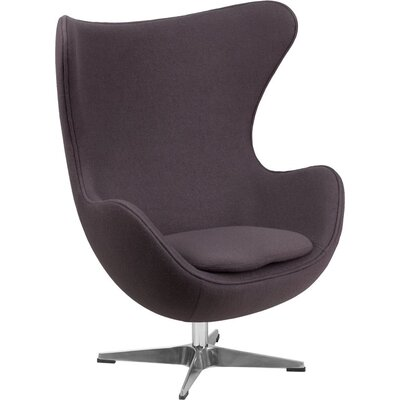 Wheatley Guest Chair Seat Color: Gray Wool