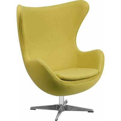 Wheatley Guest Chair Seat Color: Citron Wool