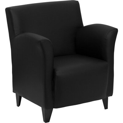 Wheatley Leather Lounge Chair Seat Color: Black
