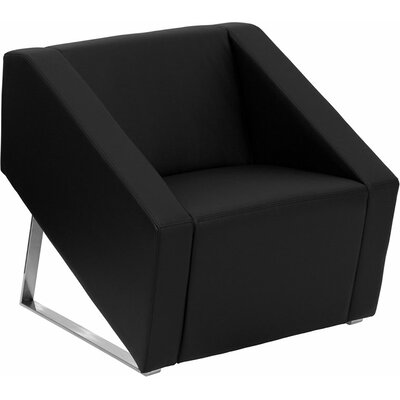 Wheatley Office Leather Lounge Chair Seat Color: Black