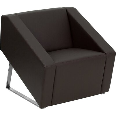 Wheatley Office Leather Lounge Chair Seat Color: Brown