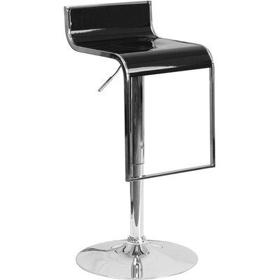 Whelan Adjustable Height Swivel Bar Stool Color: Black