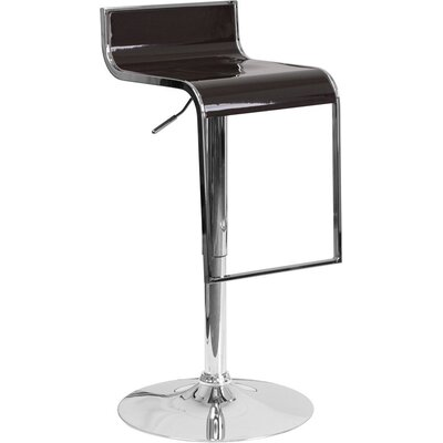 Whelan Adjustable Height Swivel Bar Stool Color: Brown