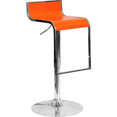Whelan Adjustable Height Swivel Bar Stool Color: Orange