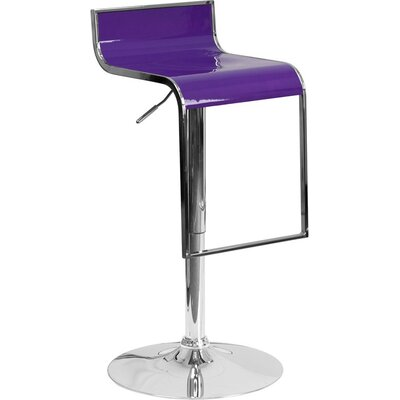 Whelan Adjustable Height Swivel Bar Stool Color: Purple