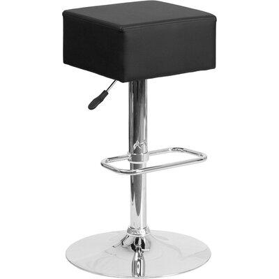 Whelan Backless Adjustable Height Swivel Bar Stool Upholstery: Black