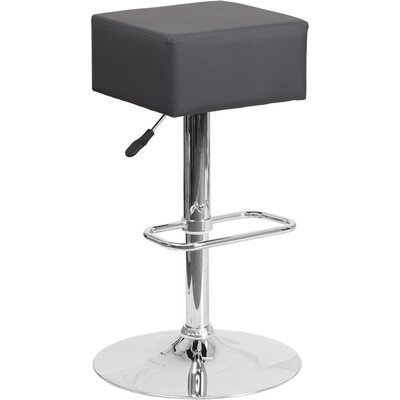 Whelan Backless Adjustable Height Swivel Bar Stool Upholstery: Gray