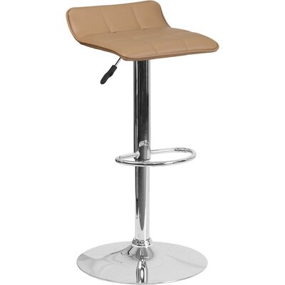 Whelan Low Back Adjustable Height Swivel Bar Stool Upholstery: Cappuccino