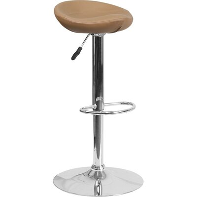 Whelan Backless Adjustable Height Swivel Bar Stool Upholstery: Cappuccino