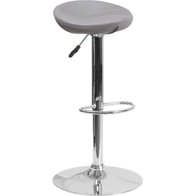 Whelan Backless Adjustable Height Swivel Bar Stool Upholstery: Gray