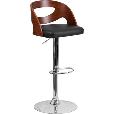 Crotty Low Back Adjustable Height Swivel Bar Stool