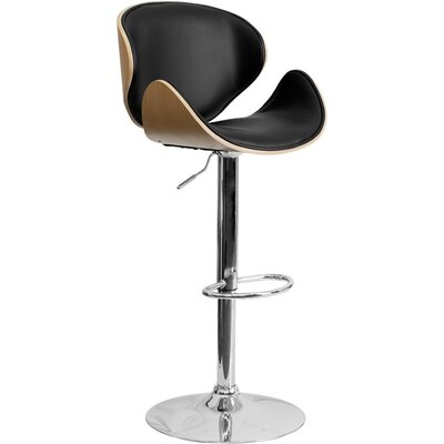 Crotty Adjustable Height Swivel Bar Stool Color: Beech