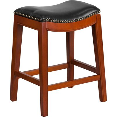 Jenkin 26 Backless Bar Stool Color: Light Cherry