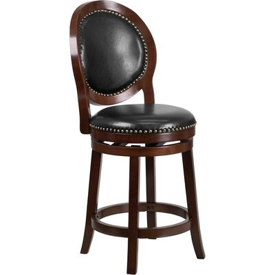 Howze 27 Swivel Bar Stool Color: Cappuccino