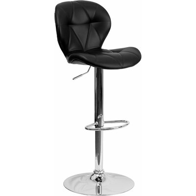 Outen Tufted Adjustable Height Swivel Bar Stool