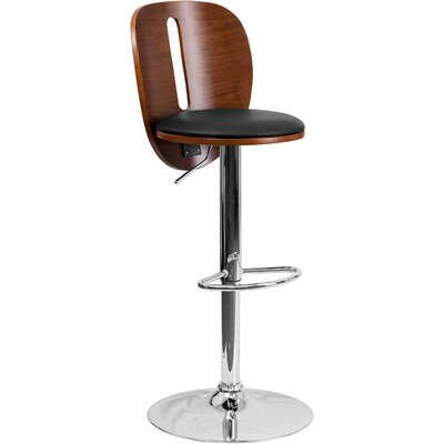Crotty Mid Back Adjustable Height Swivel Bar Stool