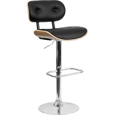 Eberhard Adjustable Height Swivel Bar Stool Color: Beech