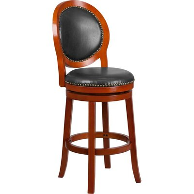 Howze 30 Swivel Bar Stool Color: Light Cherry