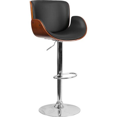 Crotty Adjustable Height Swivel Bar Stool Color: Walnut