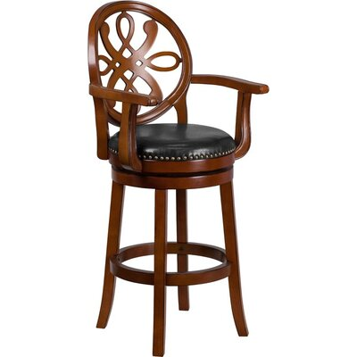 Rouillard 31 Swivel Bar Stool Color: Brandy