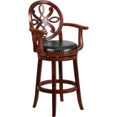 Rouillard 31 Swivel Bar Stool Color: Cherry