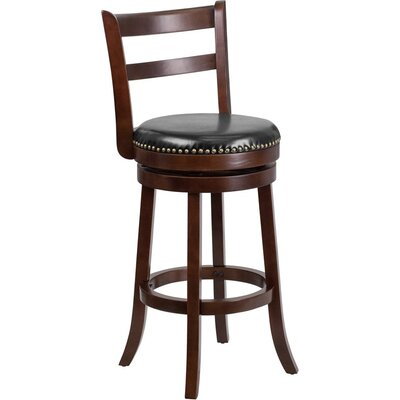 Jenkin 30 Ladder Back Swivel Bar Stool