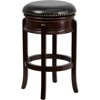 Jenkin Backless 29 Swivel Bar Stool Color: Cappuccino