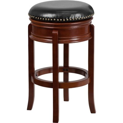 Jenkin Backless 29 Swivel Bar Stool Color: Light Cherry