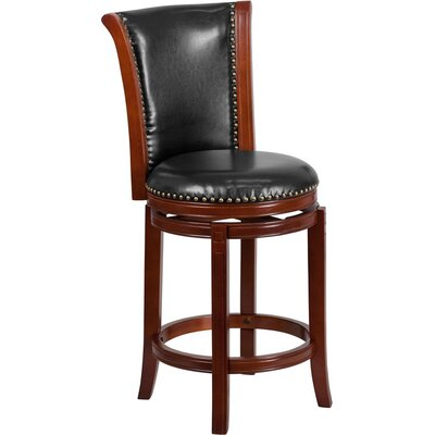 Howze 27 Panel Back Swivel Bar Stool