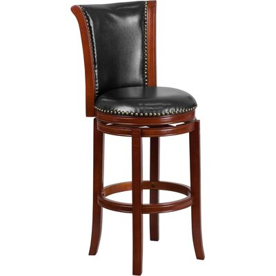 Howze 30 Panel Back Swivel Bar Stool