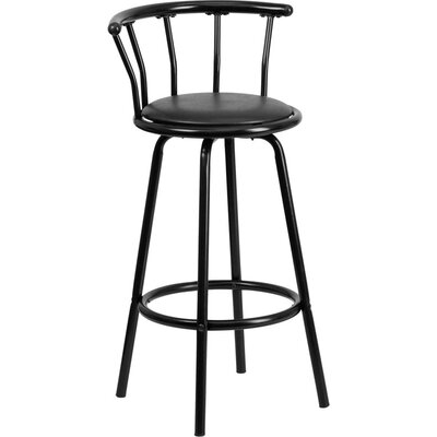 Eberhard Crown Back Metal 30 Swivel Bar Stool
