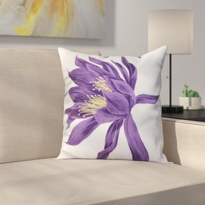 Meekins Floral Print Indoor/Outdoor Throw Pillow Color: Purple, Size: 18 x 18